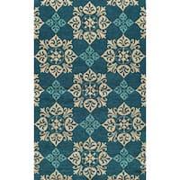 Momeni Veranda Blue Pool Tile Indoor/Outdoor Rug - 3'9 x 5'9