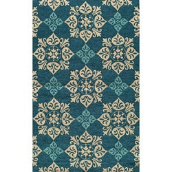 South Beach Indoor/Outdoor Blue Medallions Rug (8' x 10')