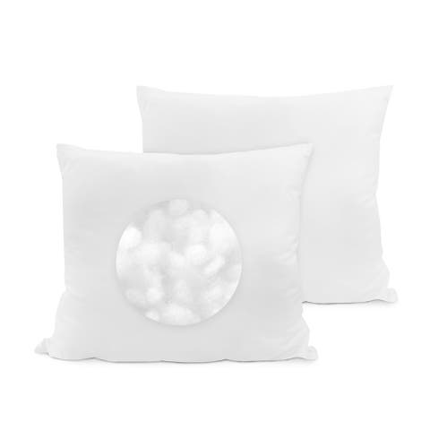SwissLux Eco Fiber 28 x 28 Inch Euro Square Pillow (Set of 2)