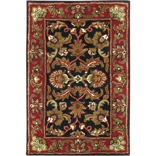 Hand-tufted Magnesia Black New Zealand Wool Area Rug - 2' x 3'