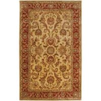 Hand-tufted Miletus Gold New Zealand Wool Area Rug (2' x 3')