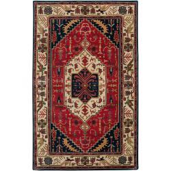 Hand-tufted Tripoli Beige New Zealand Wool Rug (2' x 3')
