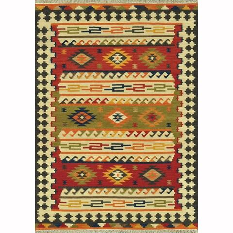 Hand Woven Cordova Multi Wool Rug - 5' x 7'6