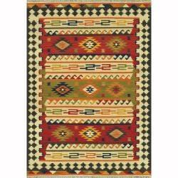 Hand Woven Cordova Multi Wool Rug - 5'0 x 7'6 - Thumbnail 0