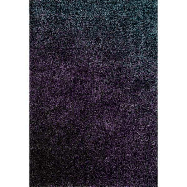 Stella Purple Shag Rug (3'9 x 5'6)