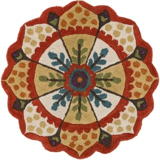 Hand Tufted Lucinda Red Wool Rug (3'0 Round)