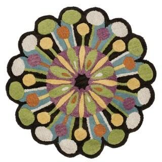 Hand Tufted Lucinda Green Wool Rug (3'0 Round)