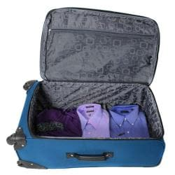 Kemyer Celebrity Lightweight 3-piece Ocean Blue Expandable Spinner Luggage Set - Thumbnail 2