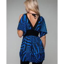 Stanzino Women's Zebra Print Kimono Top