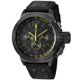 TW Steel Men's 'Canteen' Black Dial Black Strap Chronograph Watch