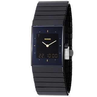 Rado Men's 'Ceramica Jublie' Black Dial Analog Digital Watch