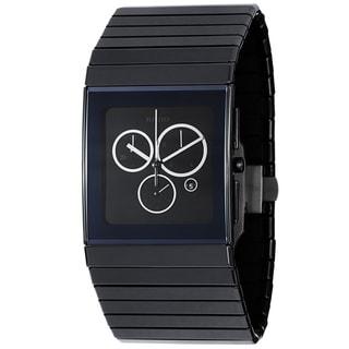 Rado Men's R21714152 'Ceramica' Black Dial Quartz Chronograph Watch