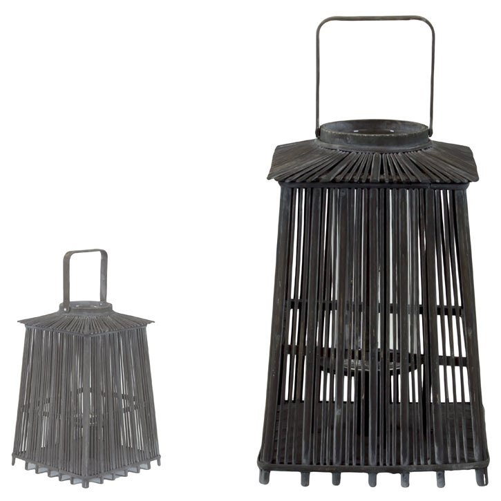 Wooden Black Large Lantern