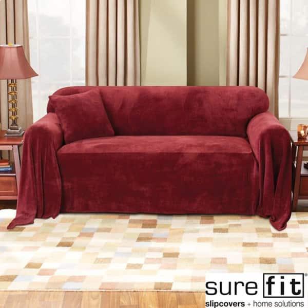 Sure Fit Plush Sofa Throw Slipcover