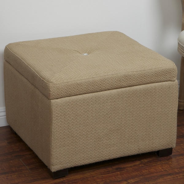 Angelique Sand Jute Shoe Storage Ottoman by Christopher Knight Home