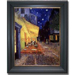 Vincent Van Gogh 'Cafe Terrace at Night' Framed Canvas Art