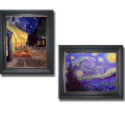 Vincent Van Gogh 'Starry Night' and 'Café Terrace at Night' Framed 2-piece Canvas Art Set