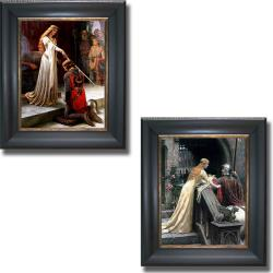 Edmund Leighton 'The Accolade and Godspeed' Framed 2-piece Canvas Art Set