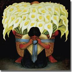 Diego Rivera 'El Vendedor de Alcatraces' Canvas Art