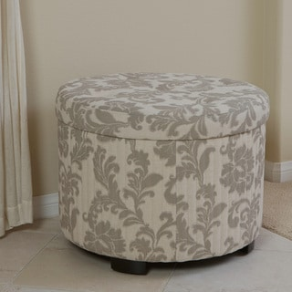 Amigo Beige Floral Shoe Storage Ottoman by Christopher Knight Home