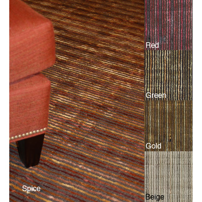 Hand-tufted Berkley Striped Rug (5' x 7'6)