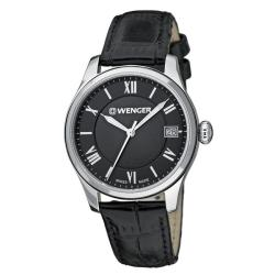 Wenger Women's TerraGraph Black Dial Black Leather Watch - 0521.104