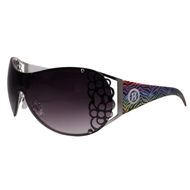 Hotties Women's HT-E899 Rainbow Zebra Shield Sunglasses