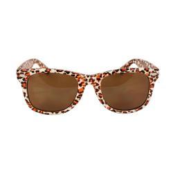 Unisex 1889-WHTLEOBN Leopard Fashion Sunglasses