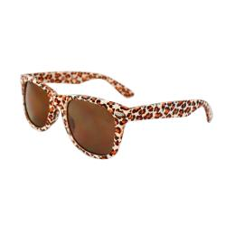 Unisex 1889-WHTLEOBN Leopard Fashion Sunglasses