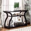 Furniture of America 'Sara' Black Finish Console Table