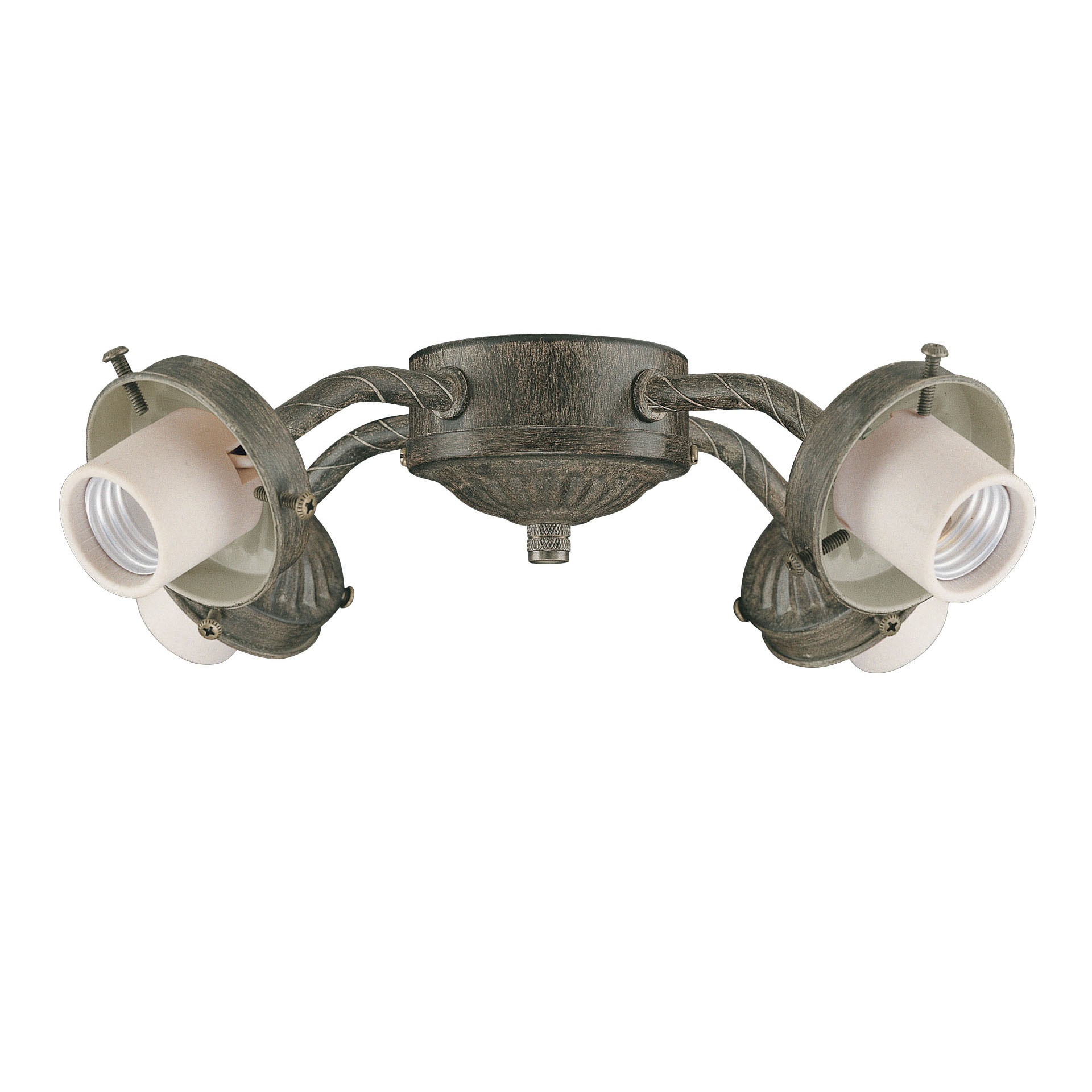 Four Light Aged Pecan Ceiling Fan Light Kit - Thumbnail 0