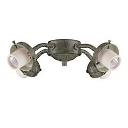 Four Light Aged Pecan Ceiling Fan Light Kit