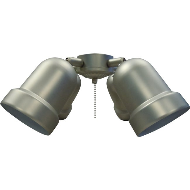 Pewter-Finish Four-Light Ceiling Fan Light Kit