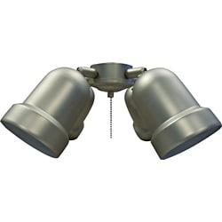 pewter finish four light ceiling fan light kit free. Black Bedroom Furniture Sets. Home Design Ideas