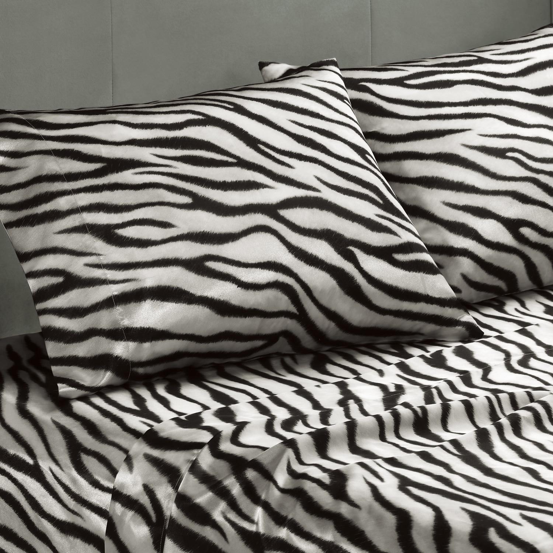 Premier Comfort Zebra Polyester Textured Satin Queen Size