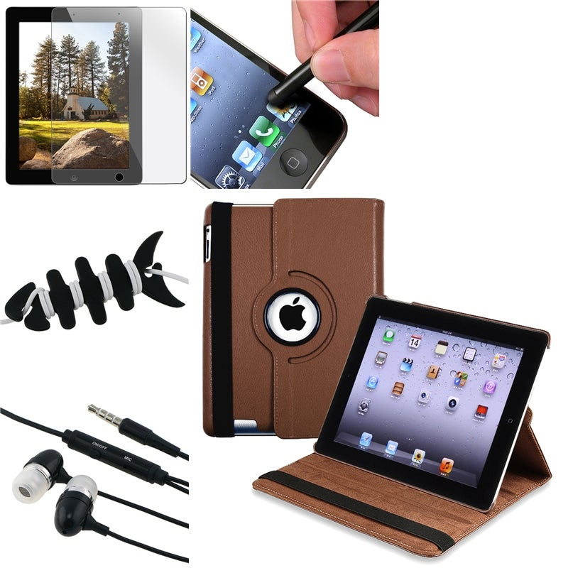 Swivel Case/ LCD Protector/ Headset/ Stylus/ Wrap for Apple iPad 3