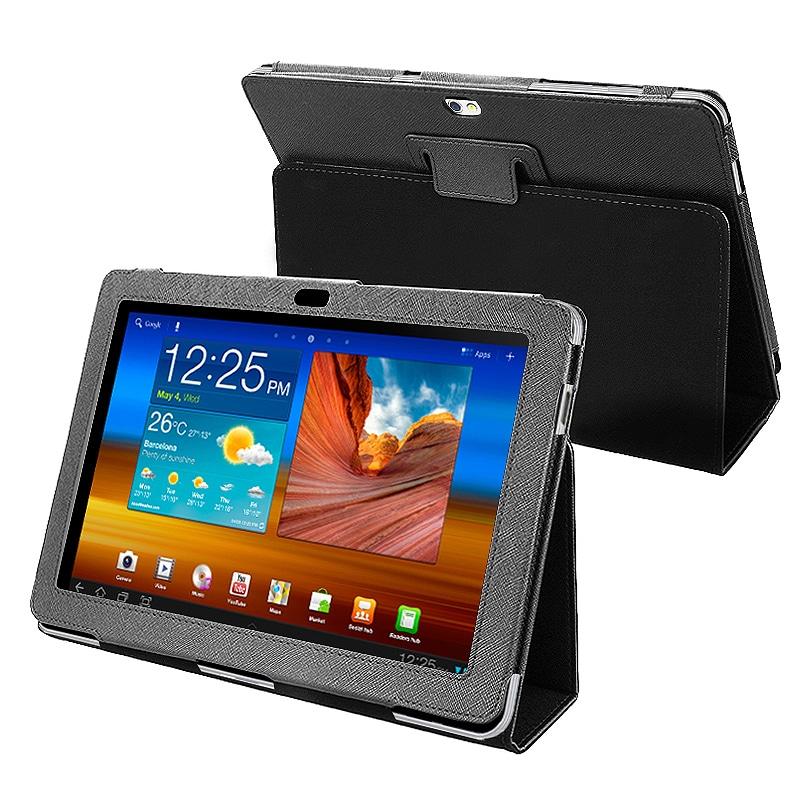 BasAcc Black Leather Case for Samsung Galaxy Tab P7500 10.1-inch
