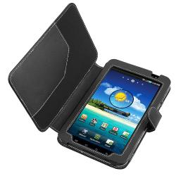 BasAcc Black Leather Case for Samsung Galaxy Tab P1000 7.0-inch - Thumbnail 2