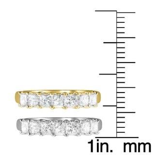 Montebello 14k Gold 1ct TDW Princess-cut Diamond Wedding Band (H-I, I1-I2)