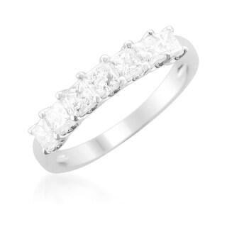 Montebello 14k Gold 1ct TDW Princess-cut Diamond Wedding Band (More options available)