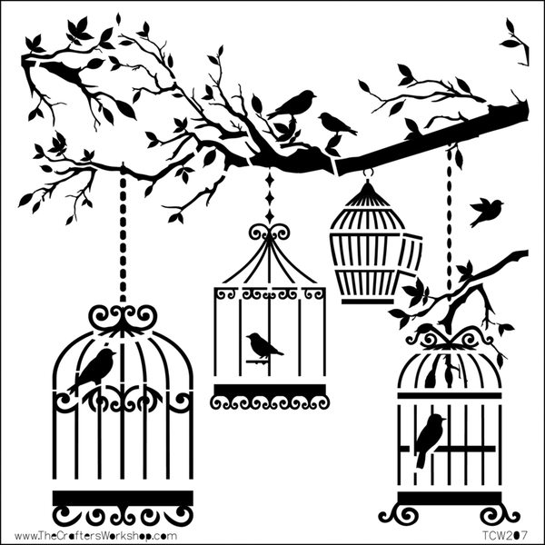 """Crafter's Workshop Templates 12""""X12""""-Birds Of A Feather"""