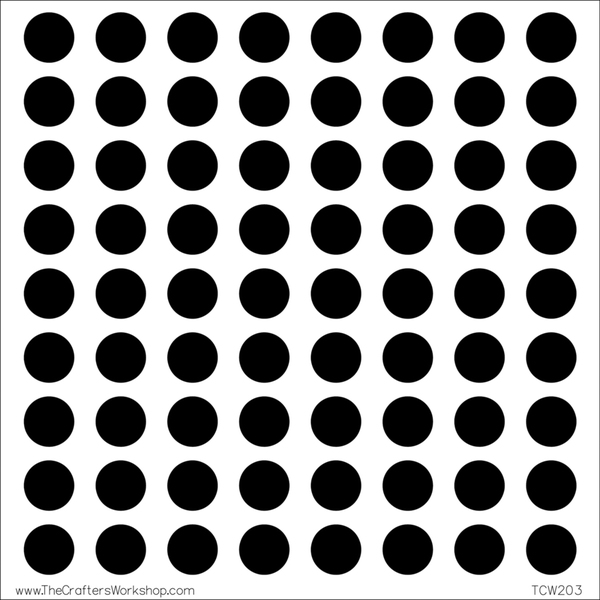 """Crafter's Workshop Templates 12""""X12""""-Circle Grid"""