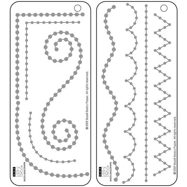 "Bazzill Adhesive Jewel Templates 3.5""X8"" 2/Pkg-Borders"