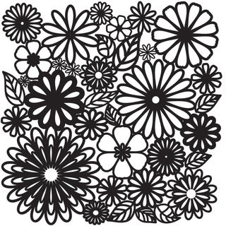 "Crafter's Workshop Templates 12""X12""-Flower Frenzy"