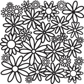 """Crafter's Workshop Templates 12""""X12""""-Daisy Cluster"""