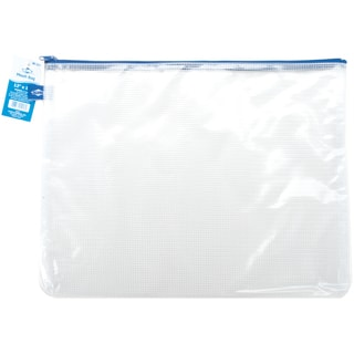 "Blue Hills Studio Mesh Bag W/Zipper 12""X16""-Clear"