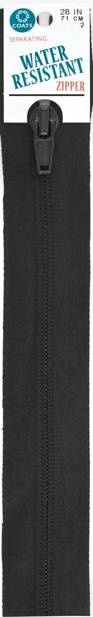 Water Resistant Separating Zipper-Black