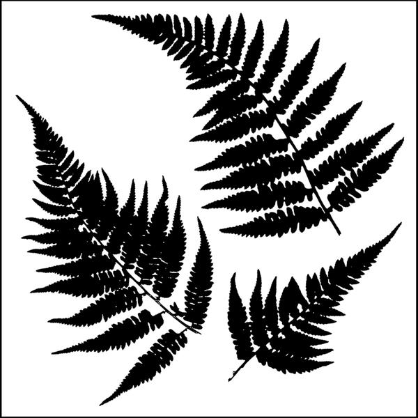 "Crafter's Workshop Templates 12""X12""-Ferns"