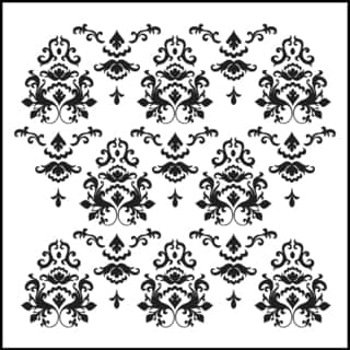 "Crafter's Workshop Templates 12""X12""-Damask"