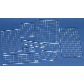 Nine-piece Tim Holtz Collection Clear Acrylic Grid Block Set